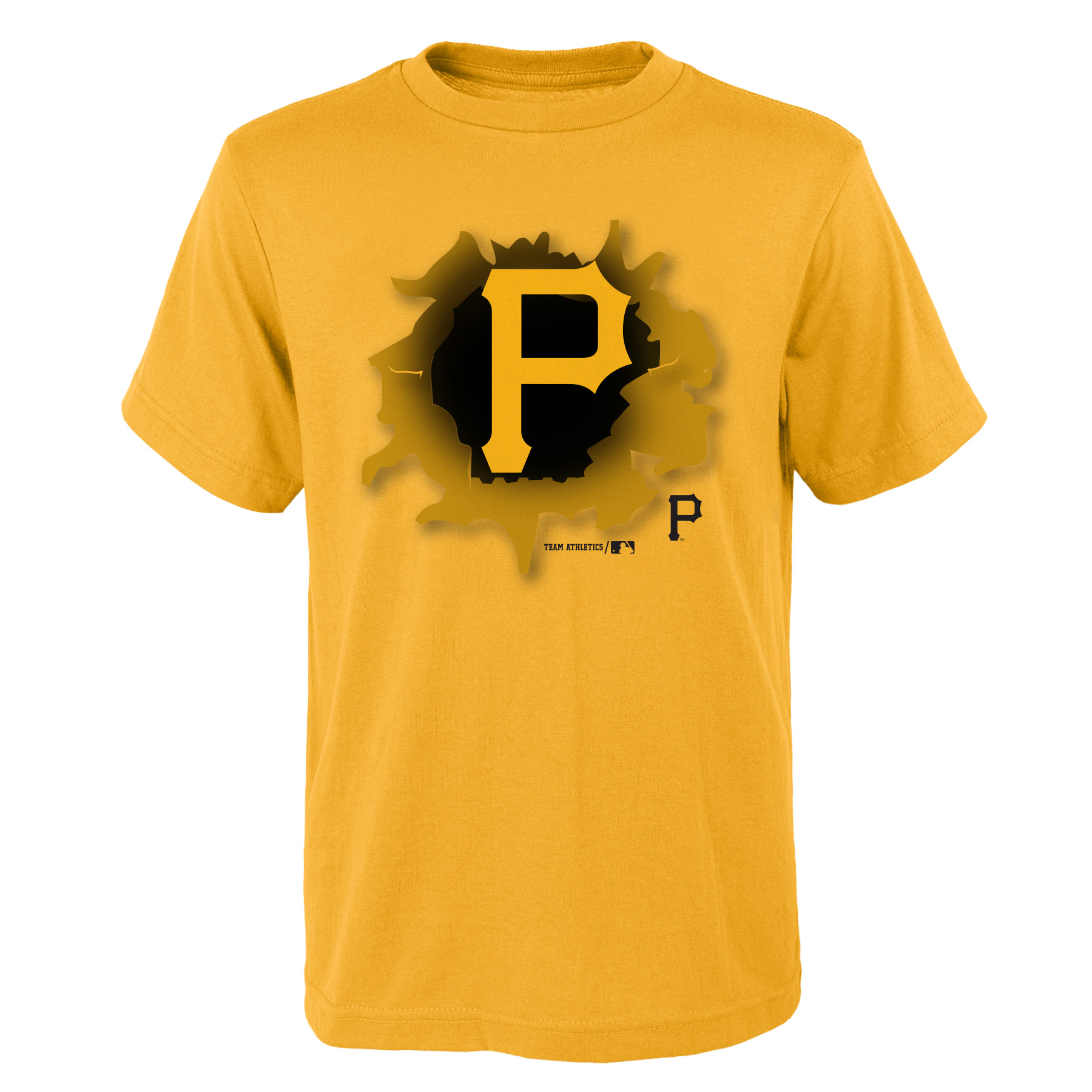 MLB Pittsburgh PIRATES TEE Short Sleeve Boys OPP 100% Cotton Alternate Team Colors 4-18