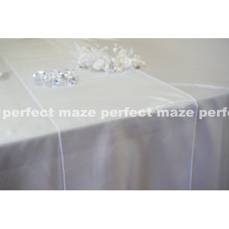 Perfectmaze 12 x 108 Inch White Organza Table Runner for Wedding, Party, Engagements, Formal Events Table - Formal Table Decoration Ideas