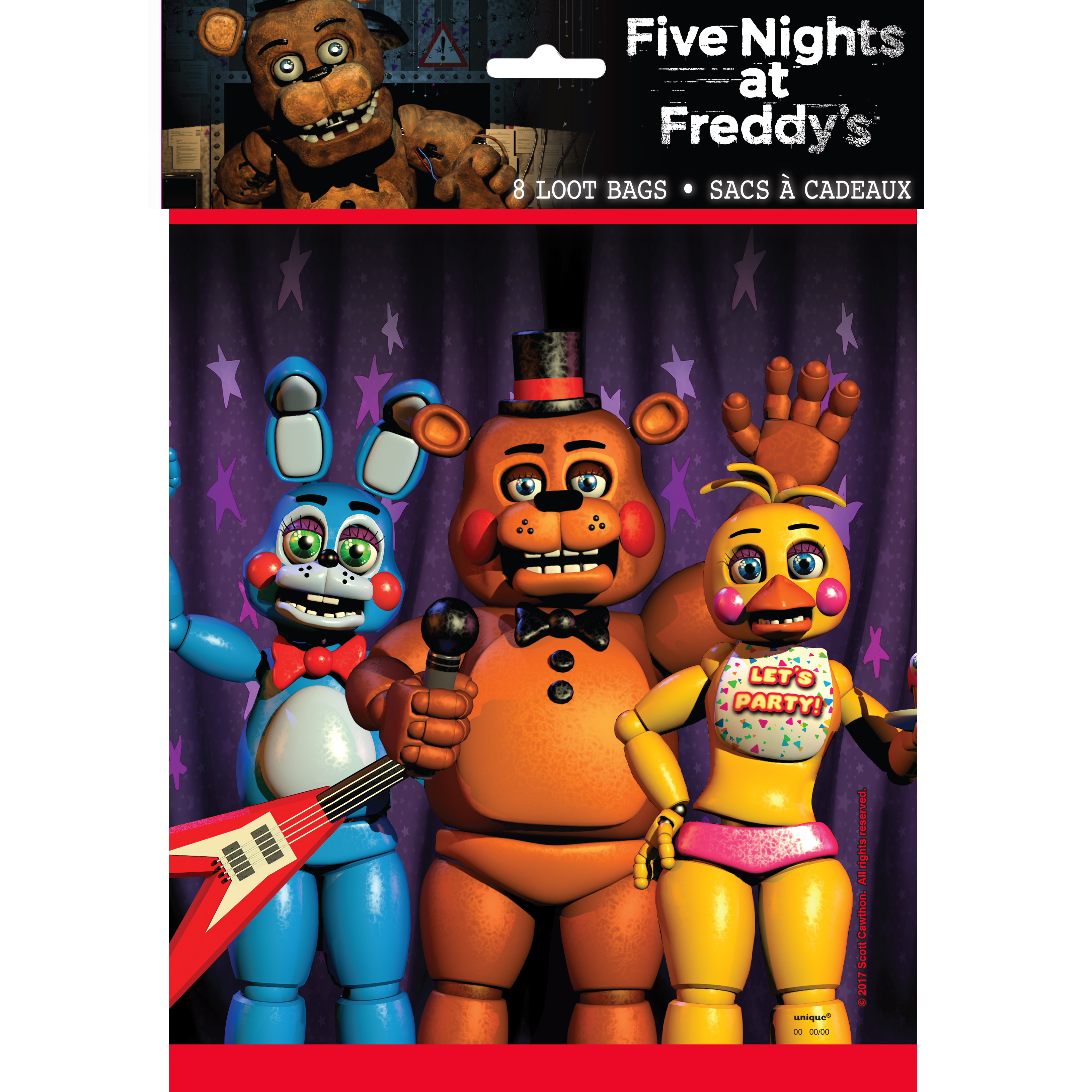 Plastic Five Nights at Freddy's Goodie Bags, 9 x 7 in, 8ct