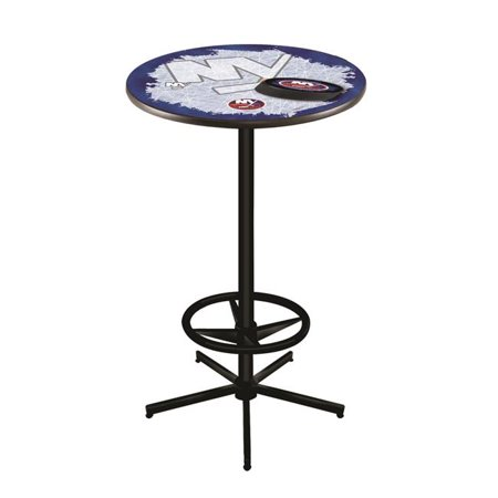 Holland Bar Stool L216B4236NYIsln 42 in. New York Islanders Pub Table with 36 in. Top, Black