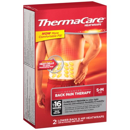 Thermacare 8 Hours Heatwraps  2 Ct