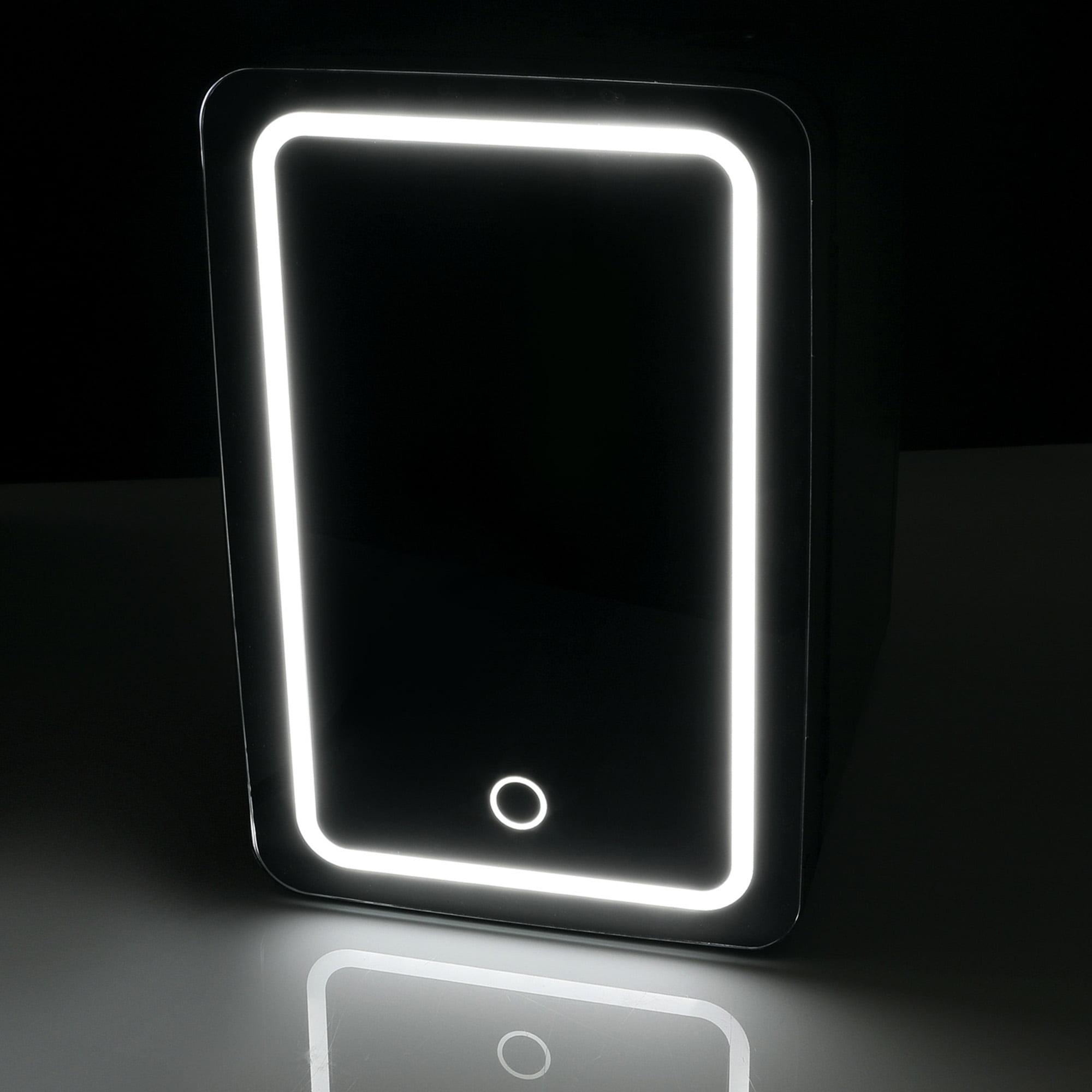 Personal Chiller LED Light Mini Fridge with Mirror Door Chills/&Warms NO//PR,HI,AK