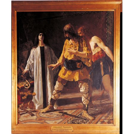 En Defending The Church Vestments And Vessels Entrusted To Her Safe Keeping Against A Goths Rapacity Canvas Art - (24 x 36)