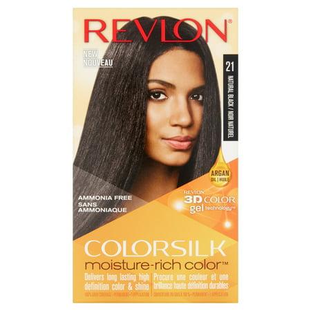 Revlon colorsilk hair color, 21 natural black](Halloween Black Hair Dye Temporary)