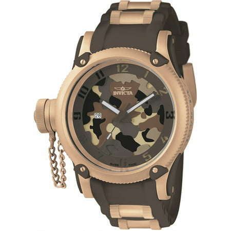 Invicta Men's Russian Diver 100m Stainless Steel/Brown Silicone Watch