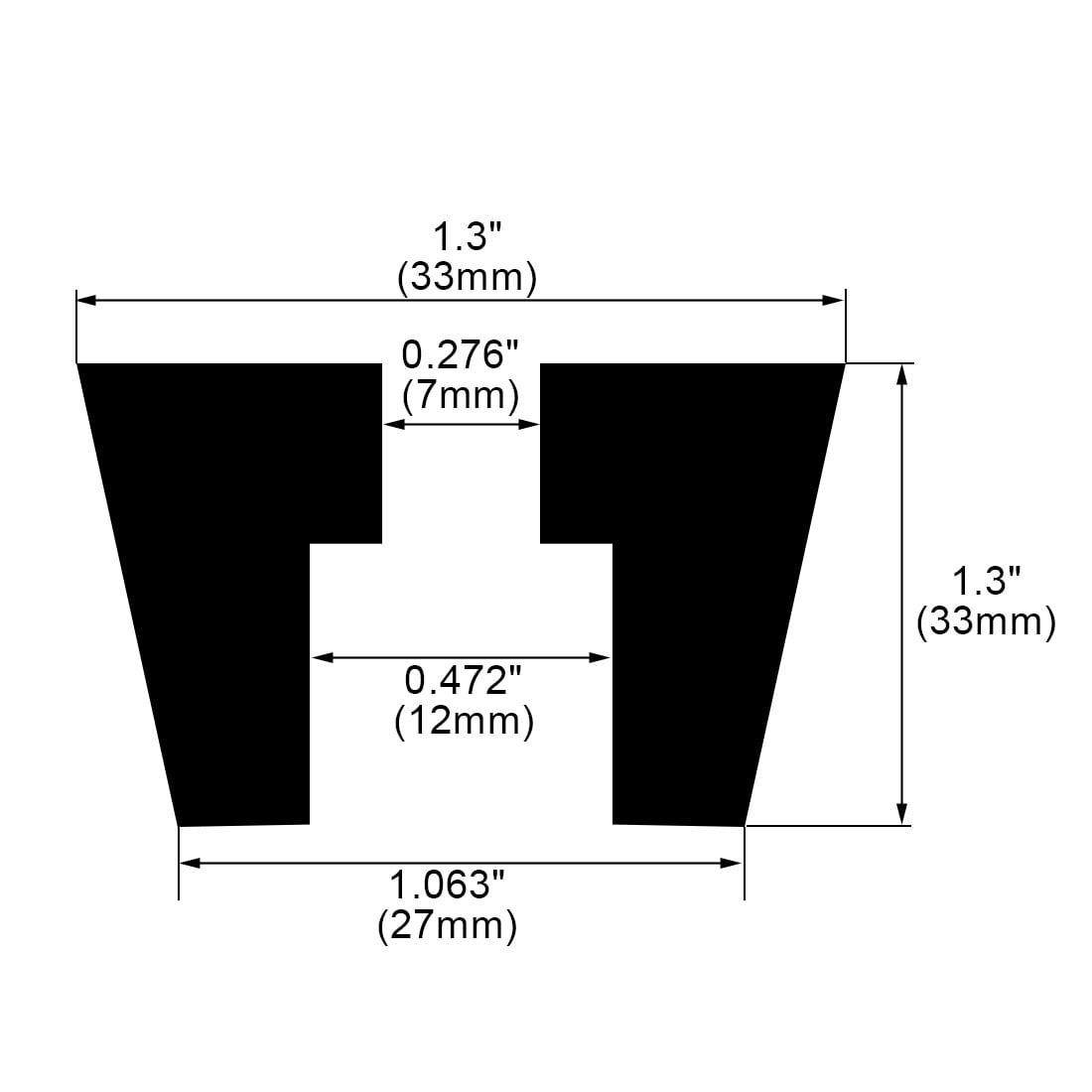 6pcs Rubber Feet Bumper Furniture Table Speaker Cabinet Leg Pads, D33x27xH33mm - image 1 de 7