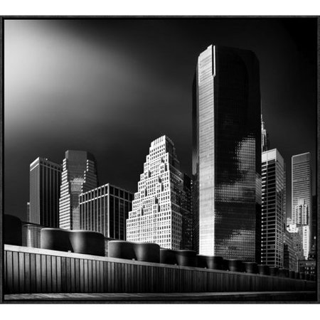Global Gallery Skyline By Hans Bauer Framed Graphic Art