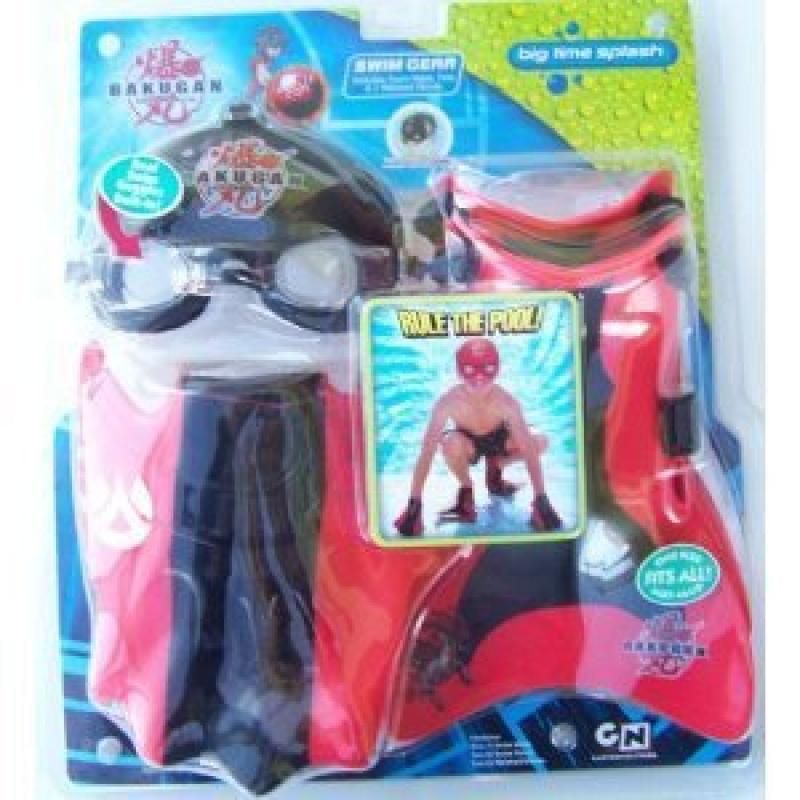 Big Time Toys Bakugan Swim Gear Goggles ,Fins and 2 Webbe...