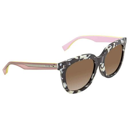 Fendi Marble Pink Sunglasses FF 0185/F/S 0UDL 54