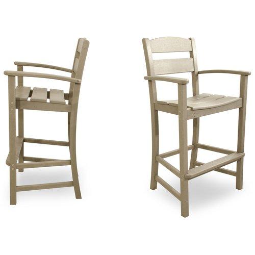 Ivy Terrace Classics 30'' Bar Arm Chair (Set of 2)