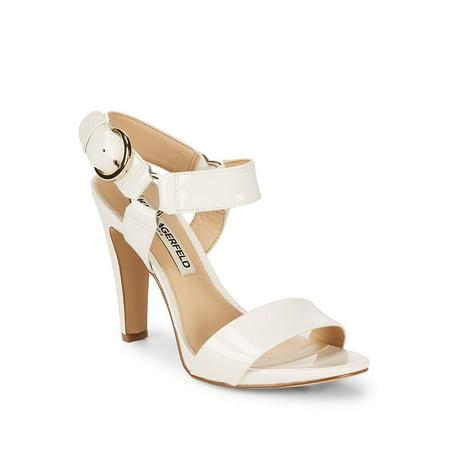 ff395070f10 Karl Lagerfeld Paris - Cieone Leather Ankle-Strap Sandals - Walmart.com