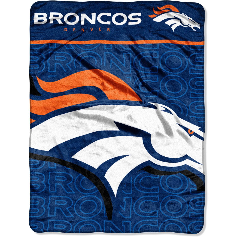 "NFL Denver Broncos 46"" x 60"" Micro Raschel Throw, 1 Each"