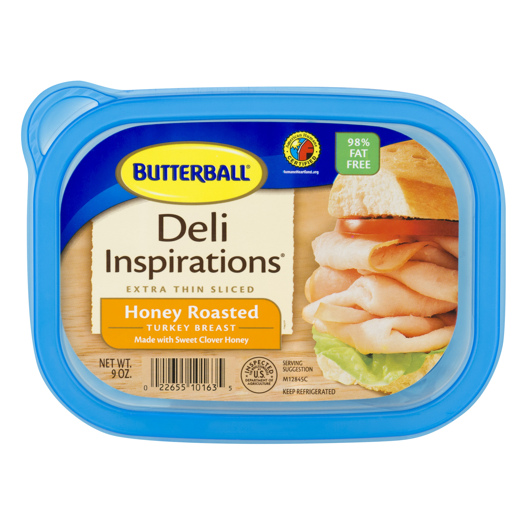 Butterball® Deli Inspirations Extra Thin Sliced Honey Roasted Turkey Breast 9 oz. Plastic Tub