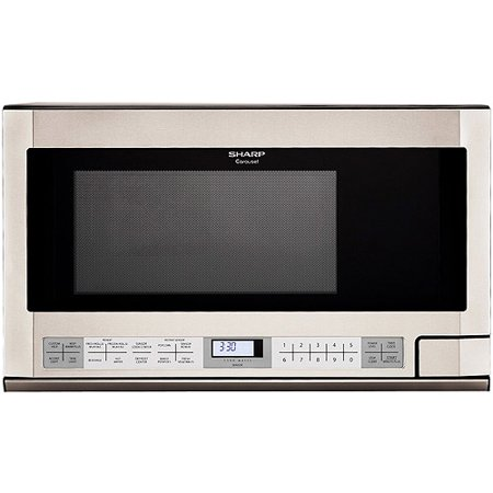 Sharp R1214 Carousel Over The Counter Microwave Oven 1 5 Cu Ft 1100w