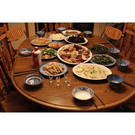 LAMINATED POSTER Celebration Season Food Chinese Feast Thanksgiving Poster Print 24 x 36