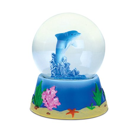 Snow Globe Dolphin (65MM) - Rose Snowglobe