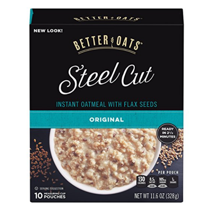 Better Oats Steel Cut Instant Oatmeal, Original, 11.6 Oz, 10 -