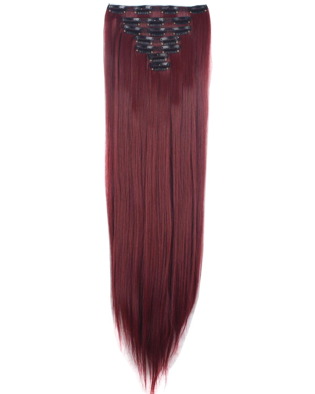 Florata 23 Long Straight Full Head Clip In Synthetic Hair