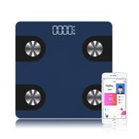 "Mosiso - Ultra Thin High Accuracy Digital Bathroom Scale with ""Smart Step-On"" Technology, Black"