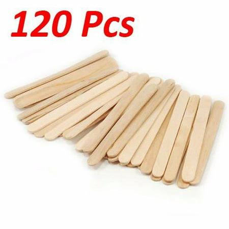 Halloween Arts And Crafts Popsicle Sticks (Wideskall® Flat Natural Wood Craft Sticks Popsicle Sticks Bulk 4-1/2