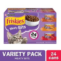 Friskies Gravy Wet Cat Food Variety Pack, Meaty Bits - (24) 5.5 oz. Cans