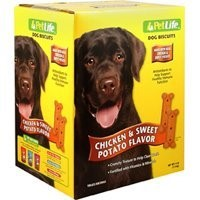 Sunshine Mills PetLife Chicken & Sweet Potato Biscuits Dry Dog Treat, 4 Lb