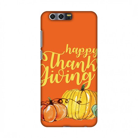 Huawei Honor 9 Case, Premium Handcrafted Designer Hard Shell Snap On Case Shockproof Printed Back Cover with Screen Cleaning Kit for Huawei Honor 9 , Slim, Protective - Pumpkin - Pumpkin Pattern