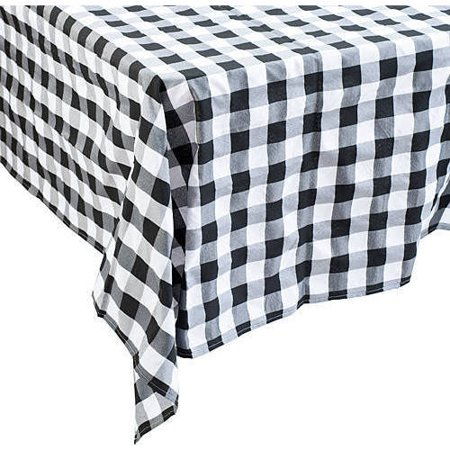 Stumps Black and White Gingham Tablecover ()