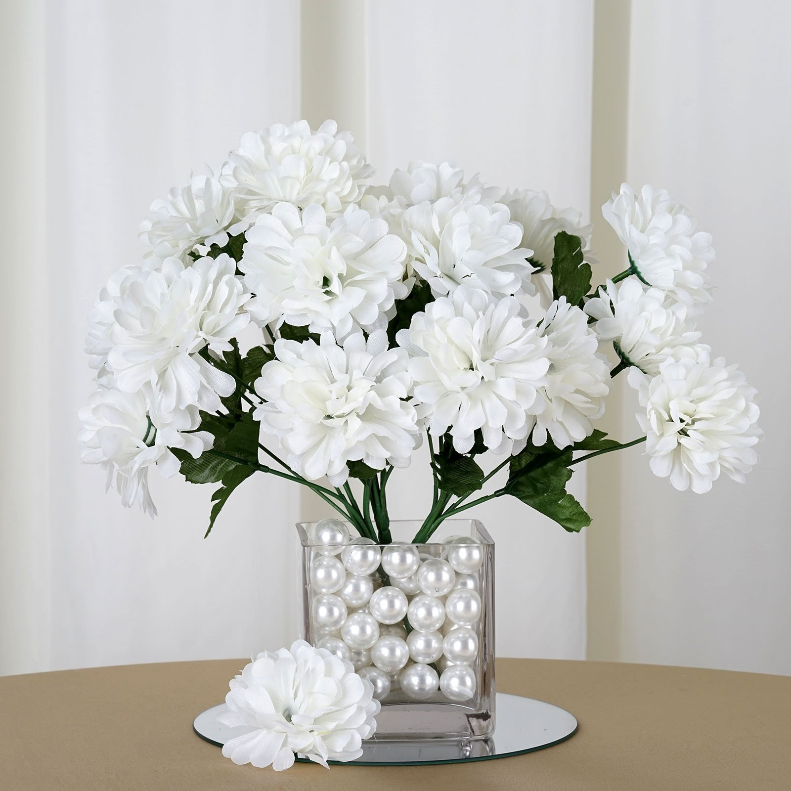 BalsaCircle 84 Chrysanthemum Mums Balls Silk Flowers - DIY Home ...