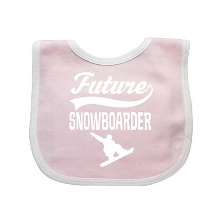 Future Snowboarder Boys Snowboarding Baby Bib