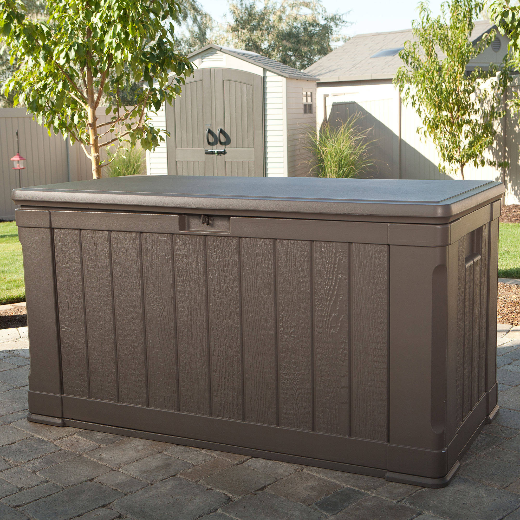 lifetime outdoor storage box 116 gallon 60089 walmartcom - Patio Storage Box
