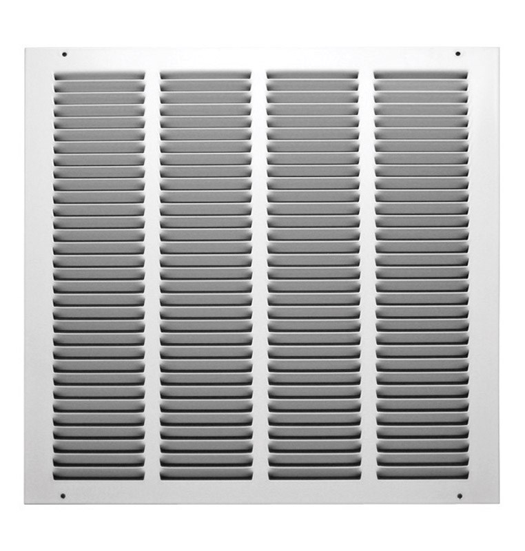 "True Aire Return Air Grille 16 "" X 16 "" White Powder Coated"