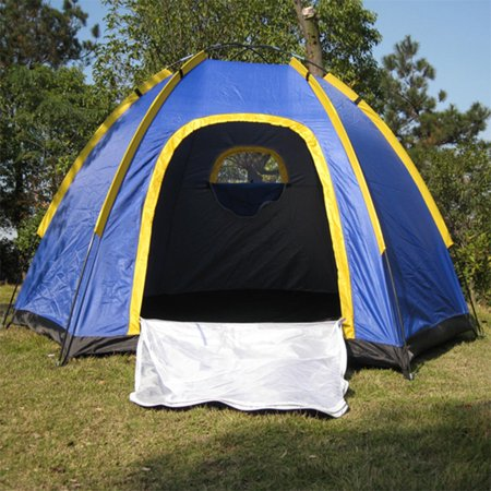 Base Camp Storage - Waterproof Hexagonal Large Camping Hiking Pop up Tent Outdoor Base Camp Blue