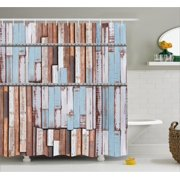 rustic decor shower curtain long wooden planks tree designs on with rusty metal screws artwork - Bathroom Decor Blue