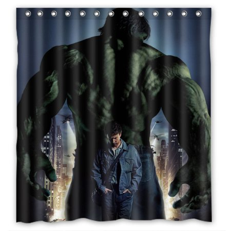 DEYOU Hulk Shower Curtain Polyester Fabric Bathroom Size 60x72 Inch