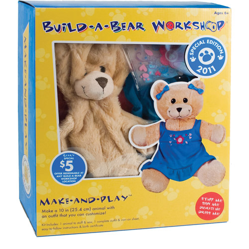 Build-A-Bear Kit, Curly Teddy Bear