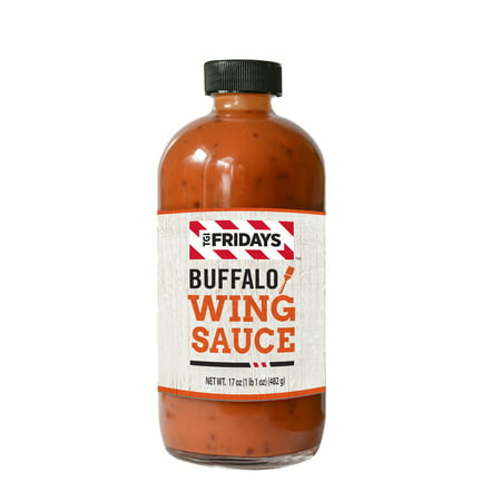(2 Pack) TGI Fridays Buffalo Wing Sauce, 17 oz