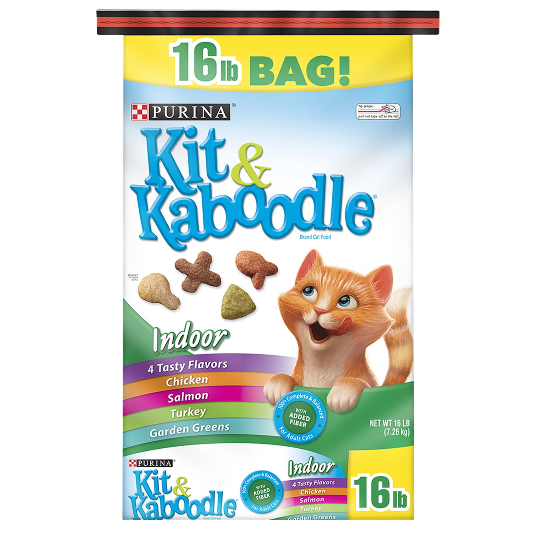 Purina Kit & Kaboodle Indoor Adult Dry Cat Food - 16 lb. Bag, 16.0 LB