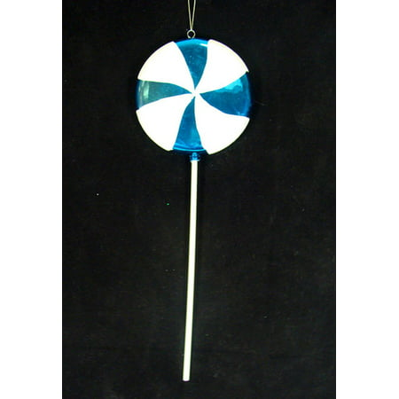 - Large Candy Fantasy Blue Cotton Candy Lollipop Christmas Ornament Decoration 22