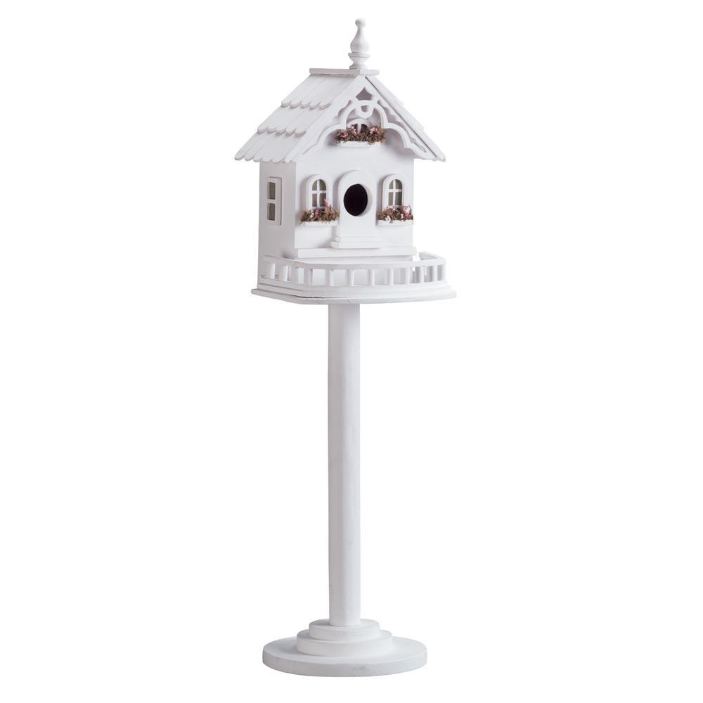 Birdhouses Outdoor, Cheap Sparrow Chickadee Freestanding Victorian Birdhouse by Songbird Valley