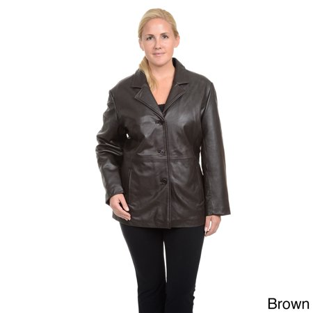 Button Front Hipster (Women's Plus Leather Button Front)