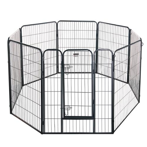 Pet Trex 40 Inch Black Heavy Duty Playpen Pet Haven For Indoor & Outdoor Use
