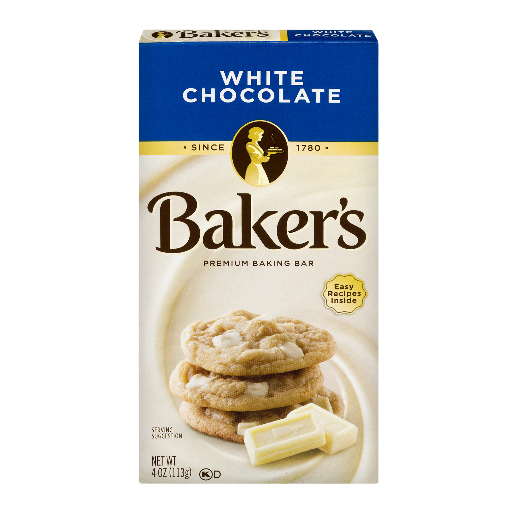 Baker's Premium White Chocolate Baking Chocolate Bar, 4 Oz by Kraft Heinz Foods Company