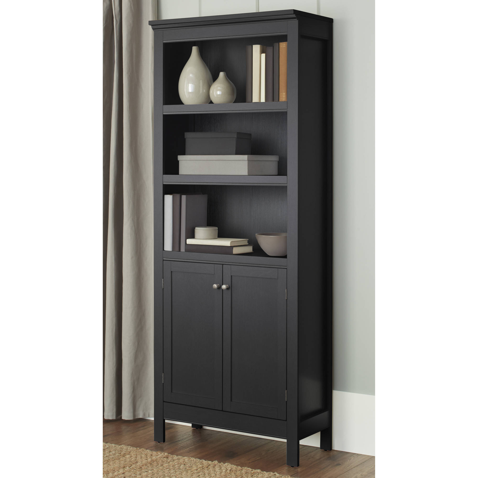 10 spring street burlington 5shelf bookcase with doors multiple colors
