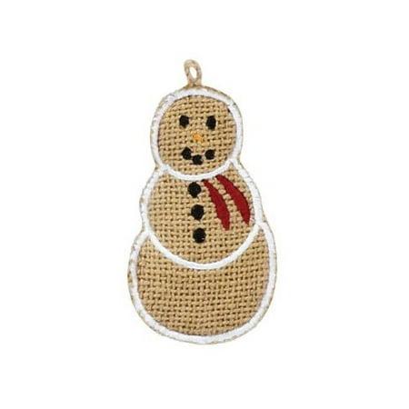 Burlap Snowman 4