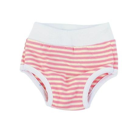 Pet Dog Stripes Pattern Drawstring Waist Diaper Pants White Pink Unerwear S - image 1 de 2