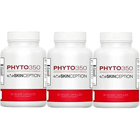 Skinception Phyto350 Advanced Phytoceramides Formula (30 ct) - 1 Month Supply - 3 Pack - Formula 3 Month Supply