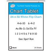 WHITE CHART TABLET 32X24 1.5IN RULED 25 SHT