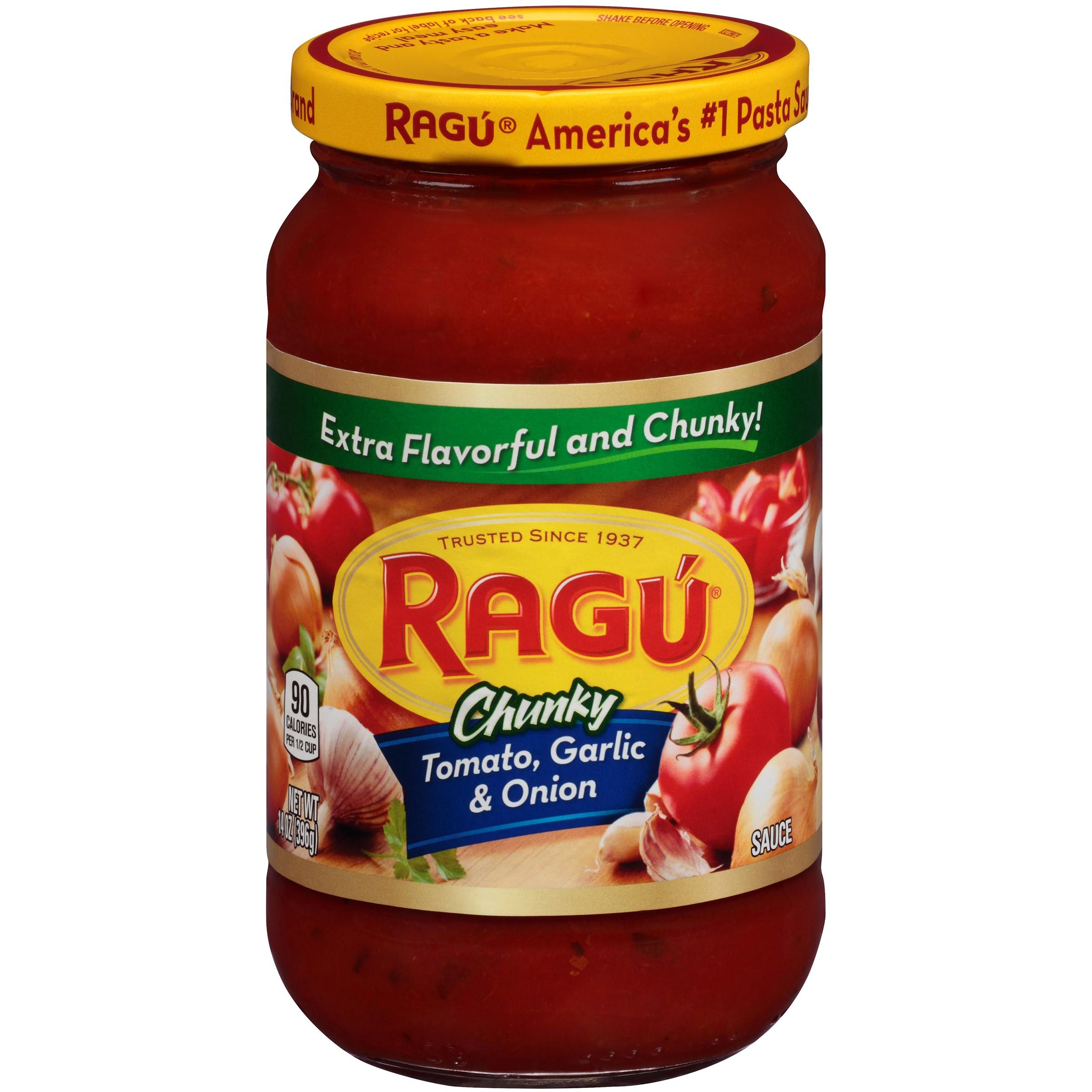 Ragú® Chunky Tomato, Garlic & Onion Pasta Sauce 14 oz. Jar