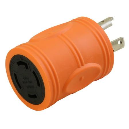 - AC Connectors ADL530L1430 Plug adapter L5-30P to L14-30R(Hots Bridged) 30Amp 125Volt to 30Amp 125/250Volt
